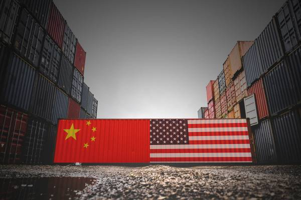 cargo containers U.S. and China